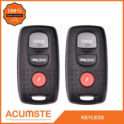 2PCS Keyless Entry Remote Key Fob Transmitter For Mazda 3 6 2004-2008 KPU41846