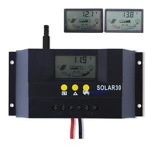 30A 12V/24V Solar Controller Regulator Charge Battery Safe Protection CE Certify