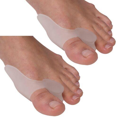 2pcs Silicone Gel Bunion Corrector Toe Protector Straightener Spreader Separator