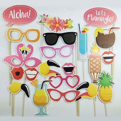 Photo Booth Props Flamingo Tropical Hawaiian Wedding Party Supplies Decor