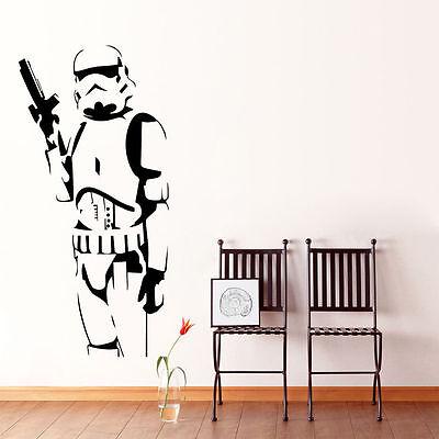 Star Wars Stormtrooper Mural Wall Art Sticker PVC Decals Kids Boys Room Decor](Star Wars Bedroom Decorations)