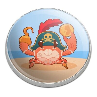 Pirate Crab on the Beach with Hook Golfing Premium Metal Golf Ball - Balls On The Beach