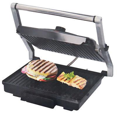 Bistecchiera Elettrica Piastra Acciaio Antiaderente 2000W Toast e Grill Dunlop