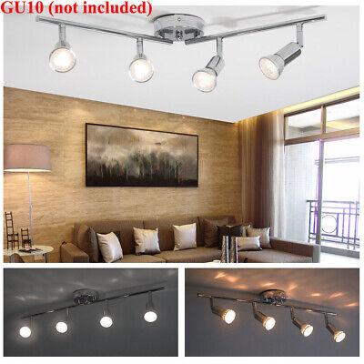 5W LED Track Lighting Rail Spotlight 4 Heads Adjustable Floodlight Ceiling Lamp (Adjustable Spotlight)