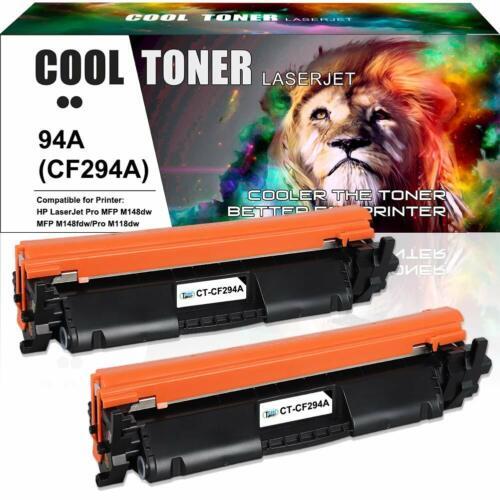 2PK Compatible for HP CF294A 94A Toner LaserJet Pro M118dw MFP M148dw M148fdw