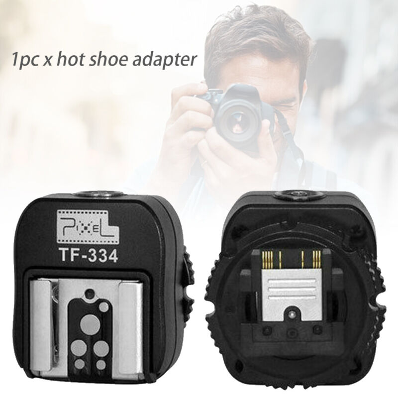 TF 334 Pixel Hot shoe Adapter with Pc Port for Sony Studio Light Camera Flash