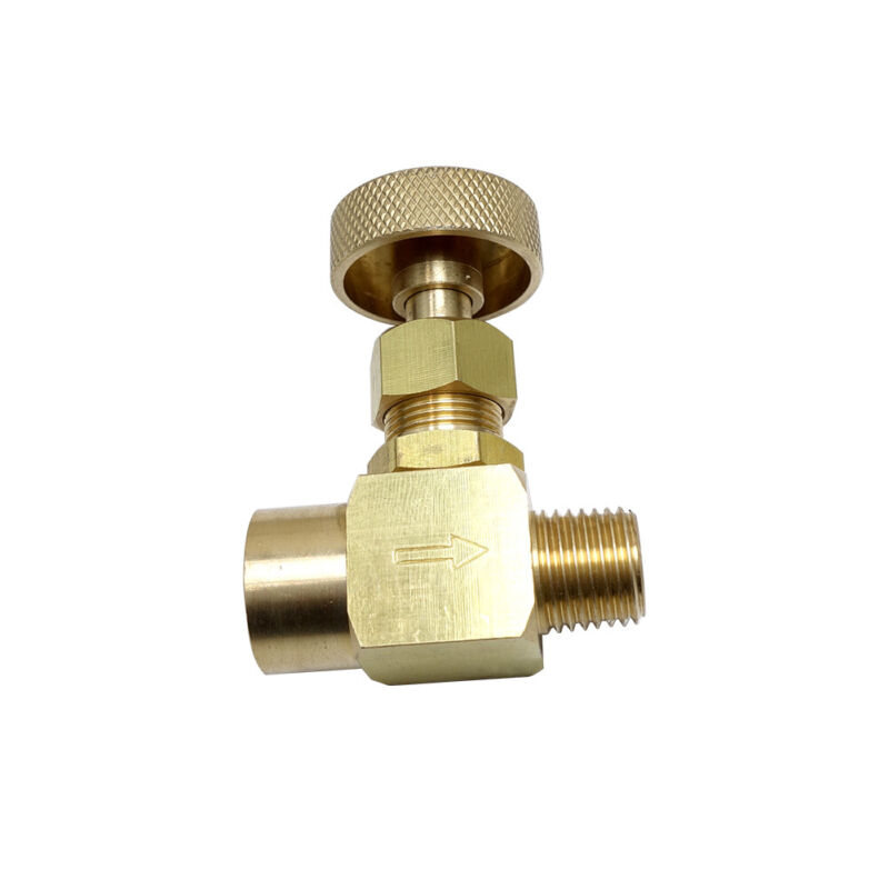 "Brass needle valve  1/8"" NPT Male * 1/8"" NPT Female 1000 WOG"