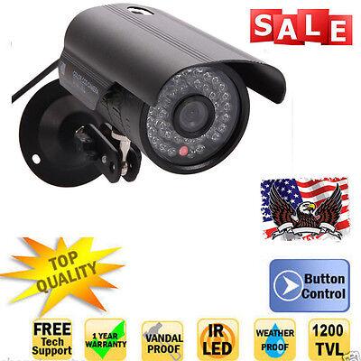 1200TVL HD 36LED Waterproof CCTV Security Cam Camera Outdoor IR Night Vision TN