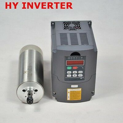 1.5kw Er11 Water-cooled Spindle Motor 80mm Inverter Drive Huanyang Vfd Cnc