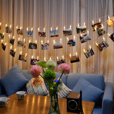 5M 40Photo Clip LED String Light Ceremony Wedding Bedroom Party Fairy Decor - Outside Wedding Decorations