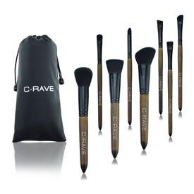 Stylish Wood Handle Make Up Brushes 8 Pieces