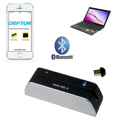 NEW Bluetooth MSR X6BT MSRX6BT Magstripe Swipe Credit Card Reader Writer Encoder