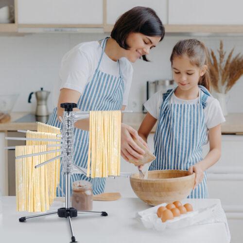 Nudeltrockner Pastatrockner 16 Arme Nudelständer faltbar Pasta-Halter Zubehör EY