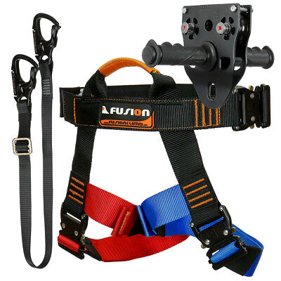 Fusion Tactical Pro Zip Line Kit Harness/Lanyard/Trolley FTK-A-HLT-15
