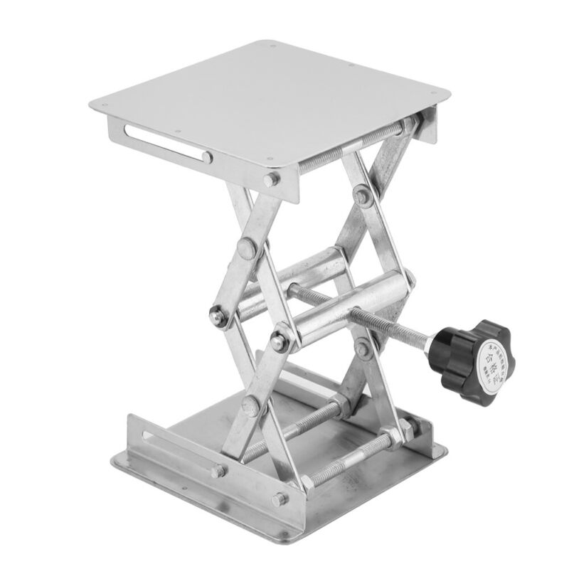 Stainless Steel Lifting Platform Stand Lift Scissor 4 By 4 Max Height 6.2 Min