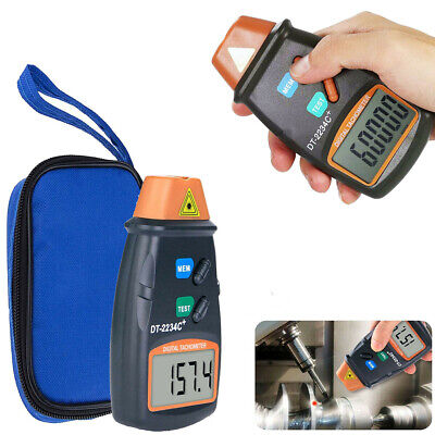 Handheld Digital Photo Laser Tachometer Non Contact Tach Tool Rpm Speed Tester