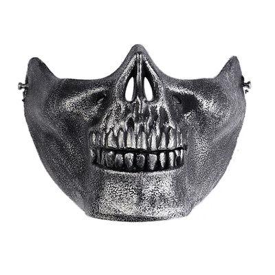 Totenkopf Skelett Airsoft Paintball Halbes Gesicht Schutz Maske für Halloween