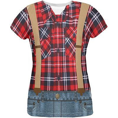 Halloween Lumberjack Costume All Over Womens T Shirt](Lumberjack Woman Costume)