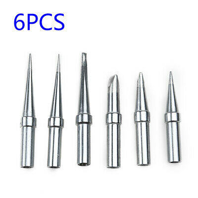 6pcs Replaces Tips Weller Et Soldering Iron For Wes5150 Wesd51 We1010na Pes5