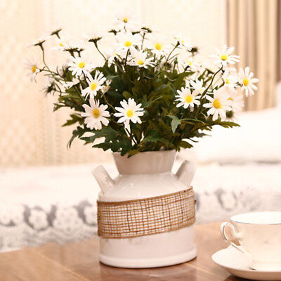 1 BOUQUET ARTIFICIAL DAISY FLOWERS PLANT OUTDOOR PARTY WEDDING HOME DECOR BEAUTY