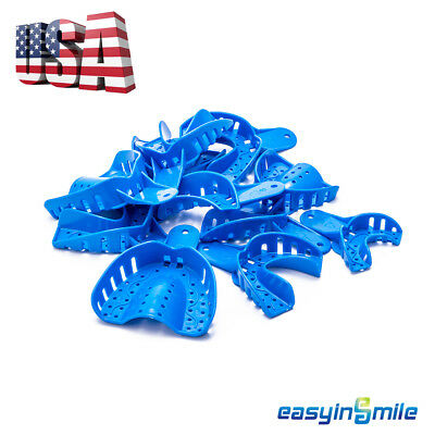 12pc Dental Perforated Plastic Impression Trays Upperlower Smlxl Easyinsmile