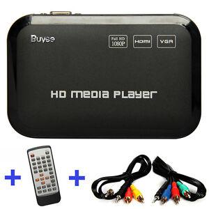 Full HD 1080P HDMI Media Player Center TV HDD SD USB MP4 RM RMVB MPEG AVI UK New