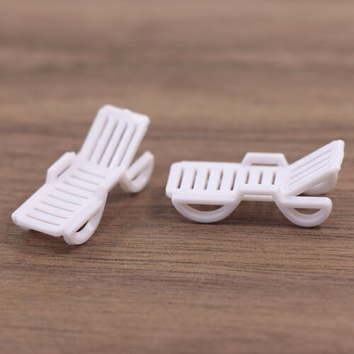 TYS15100 12pc Model Railway Layout 1:100 Sun Loungers Beach Chair Bench TT Scale