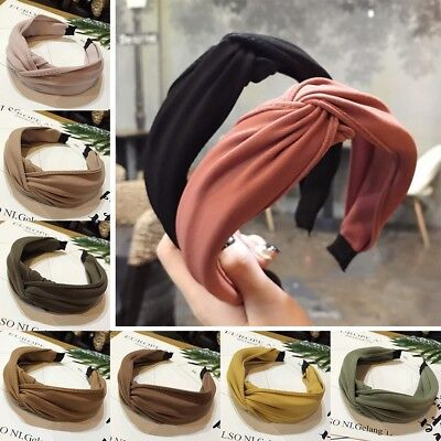 Womens Headband Twist Hairband Bow Knot Cross Tie Cloth Headwrap Hair Band Hoop