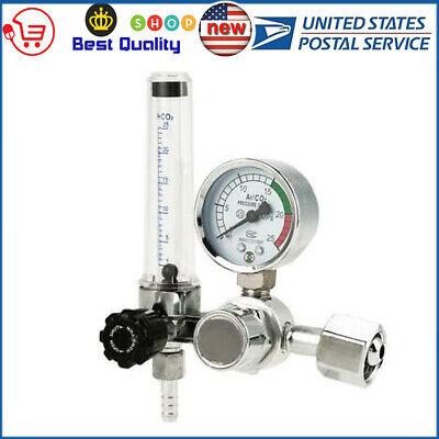 For Argon Co2 Mig Tig Flow Meter Welding Weld Regulator Gauge Gas Welder 0-25mpa