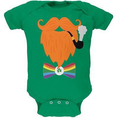 Leprechaun Baby Costume (Halloween Leprechaun Costume Rainbow Bow Tie Soft Baby One)