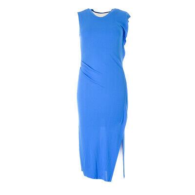 iBLUES MAX MARA Dress Turquoise Blue Gathered RRP £165 BG