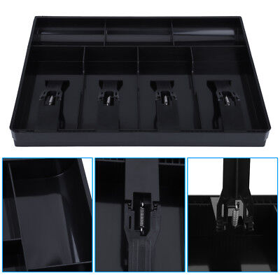 Cash Drawer Register Insert Tray Replacement 4 Bills 3 Coins Money Storage Box