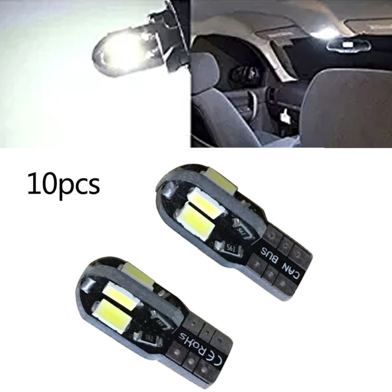10X T10 194 168 W5W 5730 8LED SMD Canbus White Car Side Wedge Light Lamp Canb LA
