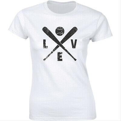 Womens LOVE Baseball Funny Sporting Lover Home Run Cute Relationship T shirt