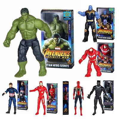 12'' Marvel Avengers Super Hero Action Figure Toys Captain Spider-Man Thor Gift