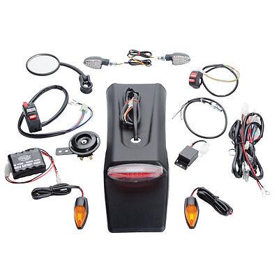 Enduro Lighting Kit, Street Legal Signal Kit w/Battery Japanese Bikes