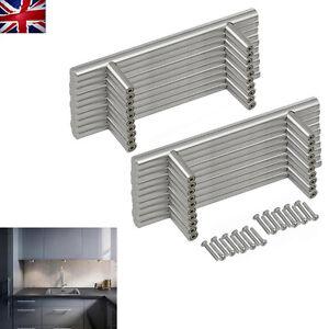 20PCS Stainless Steel T Bar Kitchen Door Handles Furniture Cupboard Drawer Hot