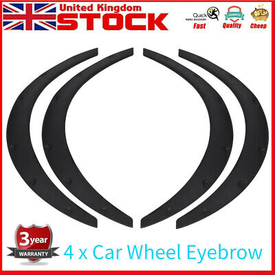 "4pcs 32""In Universal Car Wheel Arch Fender Flare Lips Trim Eyebrow Protector Kit"