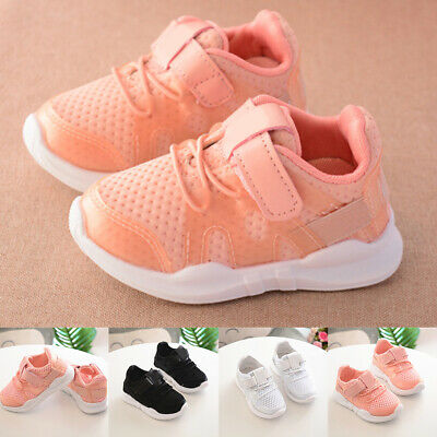 Baby Boy Girl Sports Breathable Anti-Slip Sneakers Toddler Running Shoes Welcome Baby