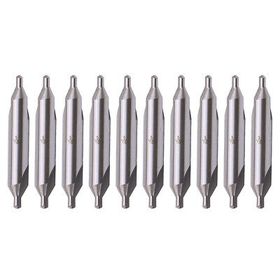 10x A-type 516 Tip Hss Combined Center Drill 60 Degree Angle Countersink Bit