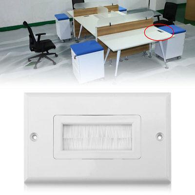 1 Single Gang Bristles Brush Wall Plate Port Insert Cover Outlet Mount Panel HG