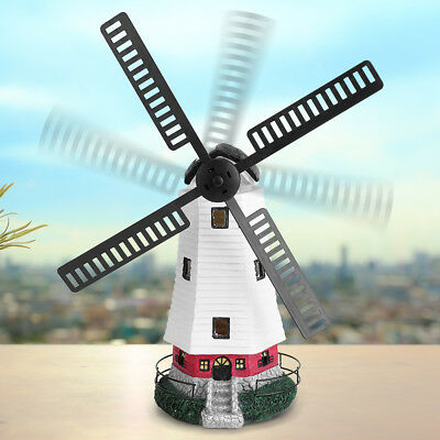 Solar Windmill - New Solar Power Windmill  Lighthouse LED Light Wall Lamp Home Garden Decor Gift