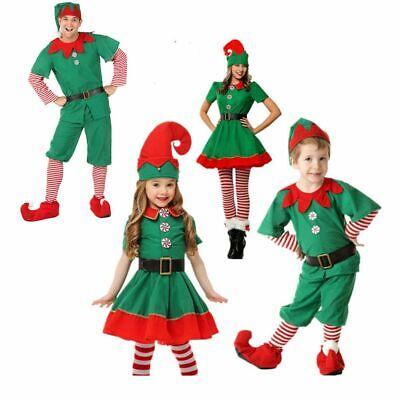 Mädchen Jungen Kinder Weihnachtself Kostüm Elf  Weihnachten - Junge Elfen Kostüme