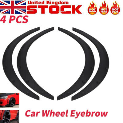 4X Universal Car Flexible Fender Flares Extra Wide Wheel Tyre Arches Protect Kit