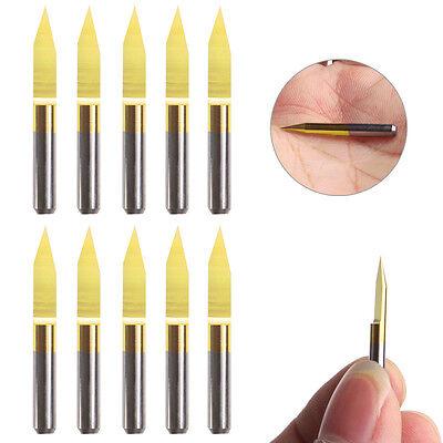 10pcsset Titanium Coated Carbide Pcb Engraving Cnc Bit Router Tools 30 0.2mm