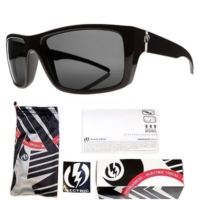 NEW Electric Visual Sixer   Black Polarized Mens Rectangular Sunglasses Msrp$150