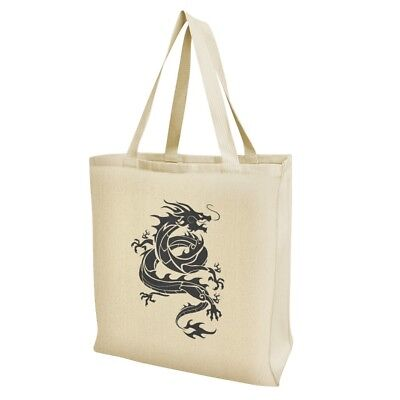 Asian Grocery - Tribal Dragon Asian Grocery Travel Reusable Tote Bag