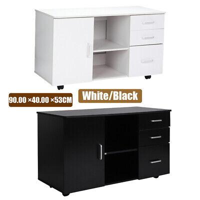 3-drawer Rolling File Cabinet Locking Drawer Furniture Office Home 90x40x53cm Us