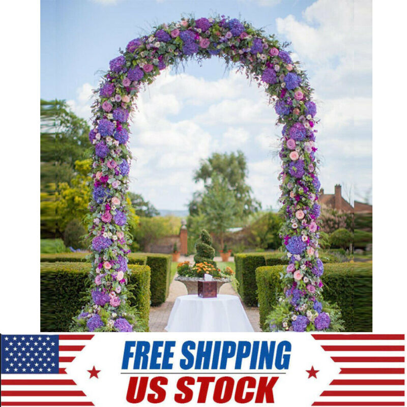 7.9FT Yard Lawn Outdoor Garden Arch Arbour Plant Support Wedding Decoratin Metal