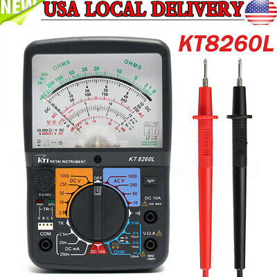 High Accuracy Analog Multimeter Kt8260l With Backlight Function Transistor Check